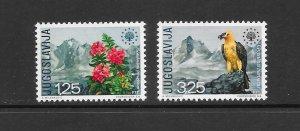 BIRDS - YUGOSLAVIA #1042-3  MNH
