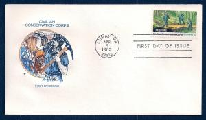 UNITED STATES FDC 20¢ Civilian Conservation 1983 Farnam