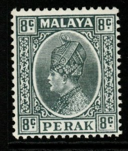 MALAYA PERAK SG93 1935 8c GREY MTD MINT