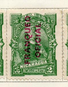 Nicaragua 1891 Early Issue Fine Mint Hinged 2P. Official Optd 323703