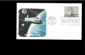 1998 FDC $3.20 Space Shuttle Troy NY