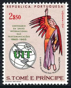 St Thomas & Prince Islands 383, MNH. Intl. Communications Union, ITU, cent. 1965