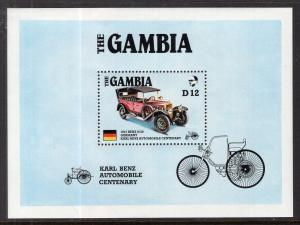 Gambia 628 Car Souvenir Sheet MNH VF