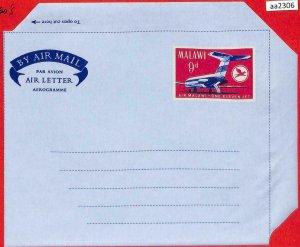 aa2306  -  MALAWI  - Postal HISTORY -  STATIONERY Aerogramme COVER