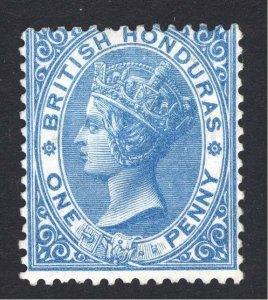Br Honduras 1865 1d Blue No Wmk SG 2 Scott 1 UN/MNG Cat £100($156)
