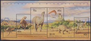Australia - 1993 Dinosaurs Souvenir Sheet VF-NH Sc. #1347a