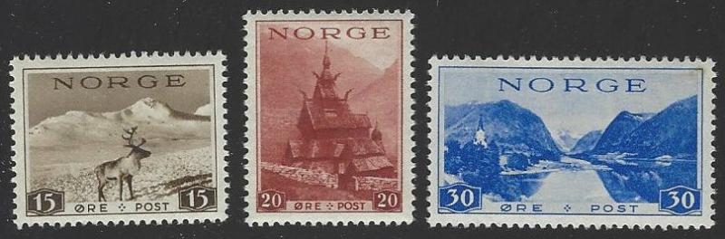 Norway #184-186 MNH Full Set of 3 (NH2)