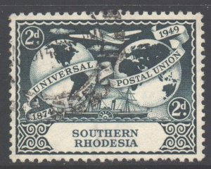 Southern Rhodesia Scott 71 - SG68, 1949 UPU 2d used