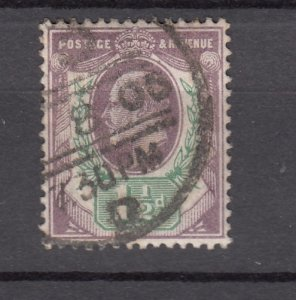 J27537 1902-11 great britain used #129 king