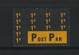 CANADA - $1 POST PAR MINT STAMP MONTREAL LOCAL POST