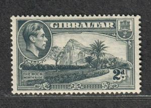 Gibraltar Sc#110d M/LH/VF, Perf 13 Wmk Sideways, Cv. $500