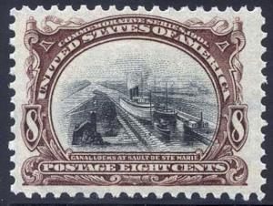 298, Mint 8c CANAL XF-SUPERB OG NH GEM