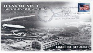 21-136, 2021, Hanger No. 1, Event Cover, Pictorial Postmark, Lakehurst NJ, Navy