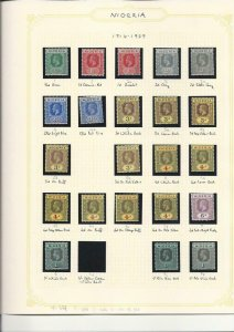 NIGERIA 1914-29 SET TO £1 (3) WITH MANY SHADES MM (36) SG 1/12b CAT £1600+