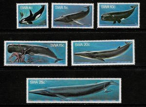 South West Africa SWA 1980 - Whales  MNH Set  # 437-442