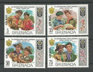 1972 Boy Scout Grenada World Jamboree Japan overprint AirMail