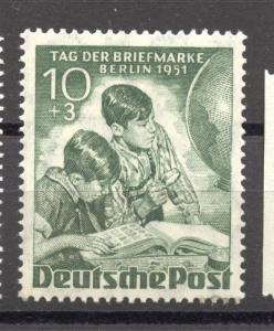 Berlin, 1950, Stamp Day, 10 + 5 Pf. MNH , no faults, superb