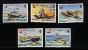 Jersey Sc 1013-7 2002 State Ships stamp set mint NH
