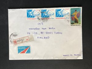 Indonesia #780//B242 Cover to Finland (1970-1999) Cover #5956