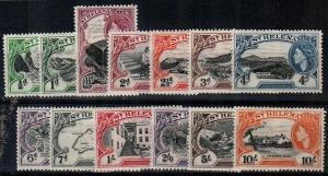 St. Helena Scott 140-52 Mint hinged (Catalog Value $113.30)