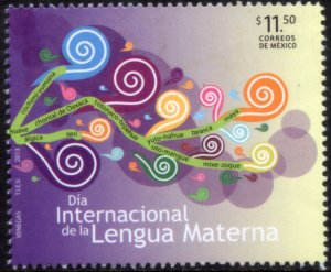 MEXICO 2814, INTERNATIONAL MOTHER LANGUAGE DAY. MINT, NH. VF