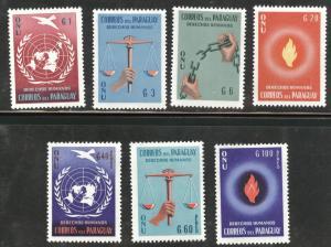 Paraguay Scott 565-8+C269-71 MNH** UN set CV$2.85