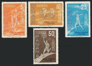 Panama C234-C237,MNH.Michel 574-577. Olympics Rome-1960.Basketball,Bicycling,