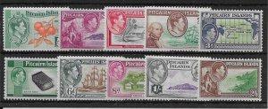 PITCAIRN ISLANDS SG1/8 1940-51 DEFINITIVE SET MNH