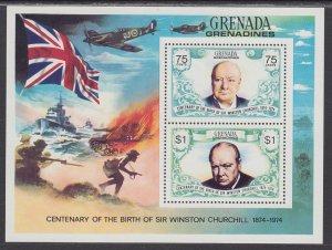 Grenada Grenadines 31 Churchill Souvenir Sheet MNH VF
