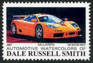 Automotive Art: McLaren ~ Artistamp - Cinderella - MNH