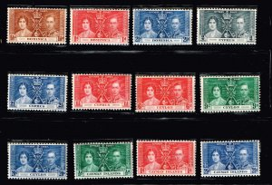 UK STAMP 1937 Coronation ISSUE COLLECTION LOT MNH/OG STAMP COLLECTION LOT #S9
