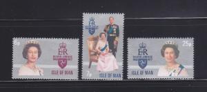 Isle Of Man MNH 96-8 Silver Jubilee QE II 1977