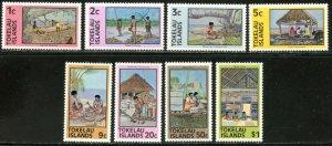 TOKELAU Sc#49-56 1976 Local Native Life Complete Set OG Mint NH