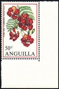 Anguilla 1970 MNH Sc #90 50c Flamboyant Flowers