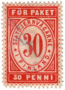 (I.B-CK) Finland Railways : Parcel Stamp 30p (State Railway)