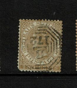 Straits Settlements SG# 11, Used, minor toning / upper bend in corner - S7466