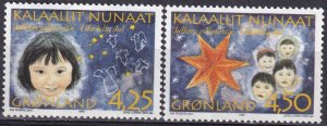 Greenland #312-3  MNH CV $4.50