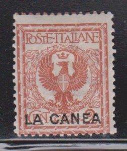 ITALY OFFICES IN CRETE Scott # 4 MH - LA CANEA Overprint