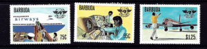 Barbuda 391-93 NH 1979 Airplaes