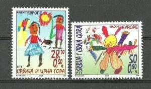 Serbia and Montenegro 2003 Joy of Europe set MNH
