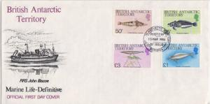 British Antarctic Territory Scott 113-116 Unaddressed.
