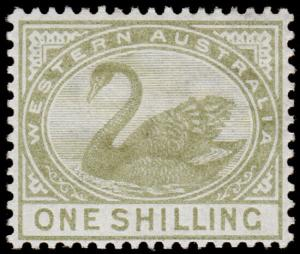 Western Australia Scott 68, Perf. 14 (1890) Mint H VF, CV $26.00 M