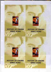 Turkmenistan 1999 History of the Cinema uncut imperforate...