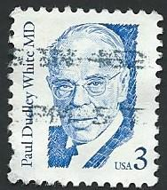 US Scott #2170 3c Paul Dudley White MD (1986) Used