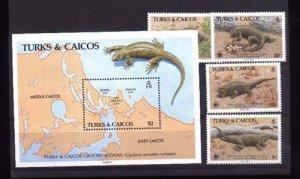 000530 WWF Turks & Caicos. Set+S/S #530