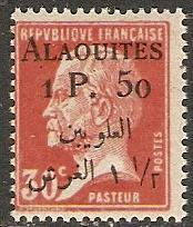 1925 Alaouites Scott 18 surcharge on French stamp MNH