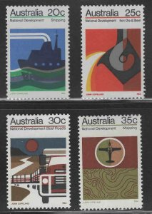 AUSTRALIA Scott 550-553 MH* 1973 Economic development set