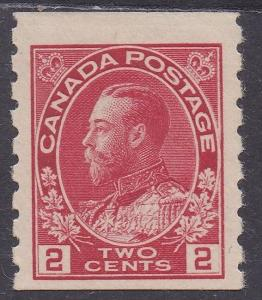 CANADA 1912 KGV 2C COIL IMPERF X PERF 8