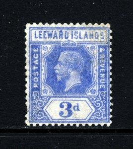 LEEWARD ISLANDS King George V 1923 3d. Light Ultramarine SG 68  MINT