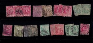 CAPE OF GOOD HOPE 1871/1904 Sc 23-24 WITH OTHERS LOT OF 21 USED A FEW FAULTS